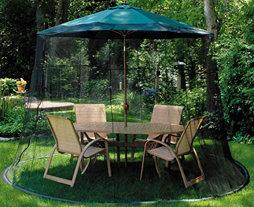 LB International 98' Black Mosquito Net Enclosure for Patio Umbrella