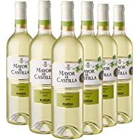 Mayor de Castilla Verdejo Vino Blanco D.O Rueda, Volumen de Alcohol 13.5% - 6 Botellas x 750 ml - Total: 4500 ml