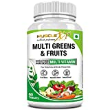 MuscleXP Multi Greens and Fruits Multivitamin with Fruit, Vegetable and Herbal Blend