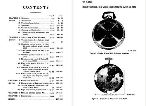 Hamilton Elgin Waltham Bulova World War II CLOCK STOP WATCH Repair Manual (English Edition)