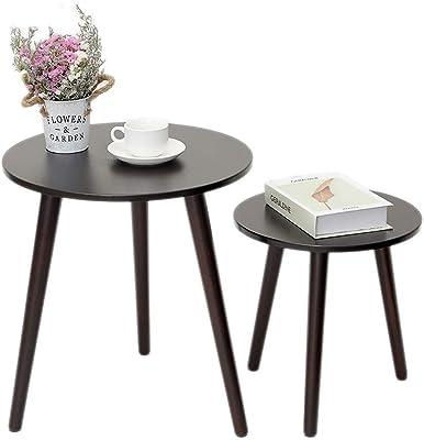 3df25c2aa608a Amazon.com  Aingoo Small Coffee Table Round Mid Century Vintage ...