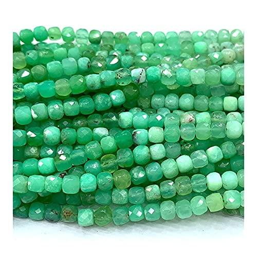 DFUF Hermoso Regalo Collar Natural de crisopasa Verde Pulseras Pendientes Anillo Bricolaje Cubos Irregulares facetados pequeños Perlas para la fabricación de Joyas