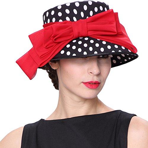 JUNE'S YOUNG Damenhut Vintage 1950's Audrey Hepburn Hochzeit Party Hut und Tasche Set