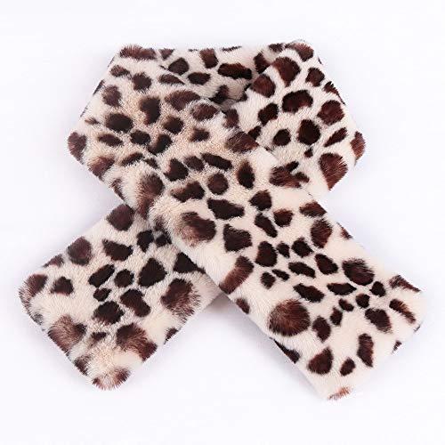 Alvnd Mode luipaard bontkraag sjaal voor nepbont sjaals okselsjaals voor luxe winter sjaal voor mannen vrouwen (37,4