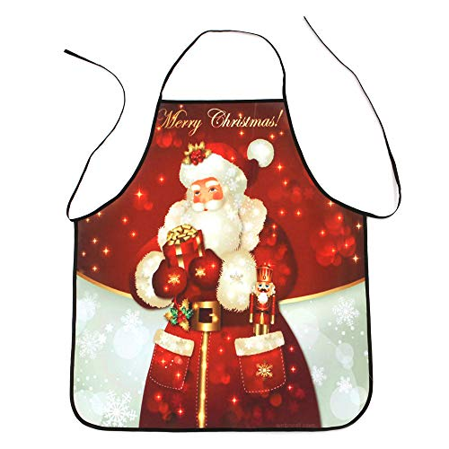 KaloryWee Sale Clearance Christmas Decoration Waterproof Apron Christmas Dinner Party Apron