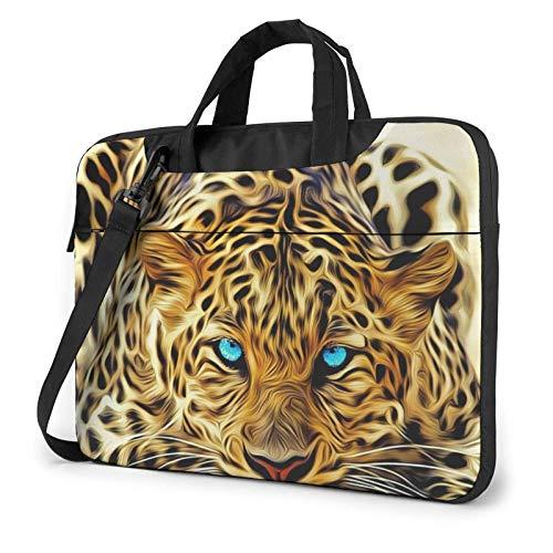 Leopardo con Ojos Azules Bolsa para computadora portátil Bolsa de Mensajero Maletín Bolso Bandolera Bandolera Bolsa de Trabajo