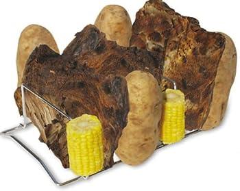 King Kooker 8RPR Chrome Rib-and-Potato Rack