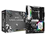 ASRock B450 Steel Legend - Scheda madre ATX Socket AM4 AMD B450 - 4x DDR4 - SATA 6Gb/s + M.2 - USB 3.1 Presa AMD AM4. Supporta DDR4 3533+ (OC). 2 PCIe 3.0 x16, 4 PCIe 2.0 x1. AMD Quad CrossFireX. Uscita grafica: DisplayPort, HDMI. Cuffie audio 7.1 CH...