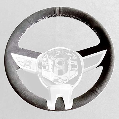 RedlineGoods Lenkradbedeckung 2010-13 kompatibel mit Camaro 2010-15 Alcantara Schwarz Stich Silber
