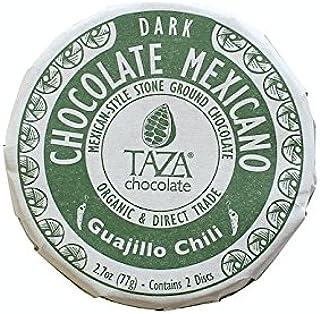 Taza Chocolate Organic Mexicano Disc 50% Dark Chocolate, Guajillo Chili, 2.7 Ounce (1 Count), Vegan