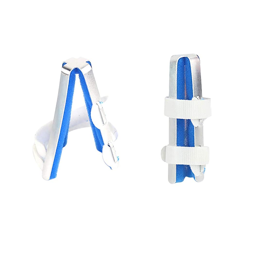 ハブ写真の配列Healifty 保護具のサイズMをまっすぐにしている指関節補正骨折固定副木