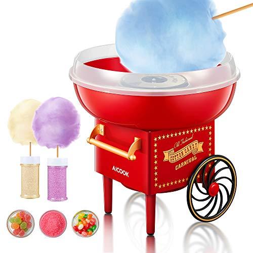 AICOOK Machine à Barbe à Papa, 500W Cotton Candy...