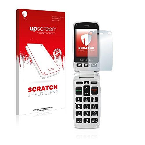 upscreen Schutzfolie kompatibel mit Doro Primo 413 – Kristallklar, Kratzschutz, Anti-Fingerprint