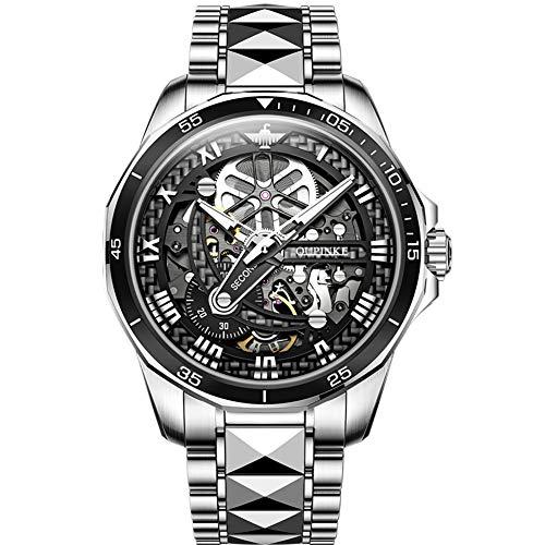 OUPINKE Reloj Automático de Pulsera Acero Inoxidable Impermeables Mecánico Regalos de Relojes para Hombres