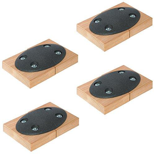 Gedotec Tischplatten-Verbinder Metall zum Anschrauben CONNECT einteilig   Tischverbinder zum Schrauben   Möbelverbinder mit Bauhöhe: 9 mm   4 Stück - Verbindungsbeschlag flach für Tische & Möbel-Bänke