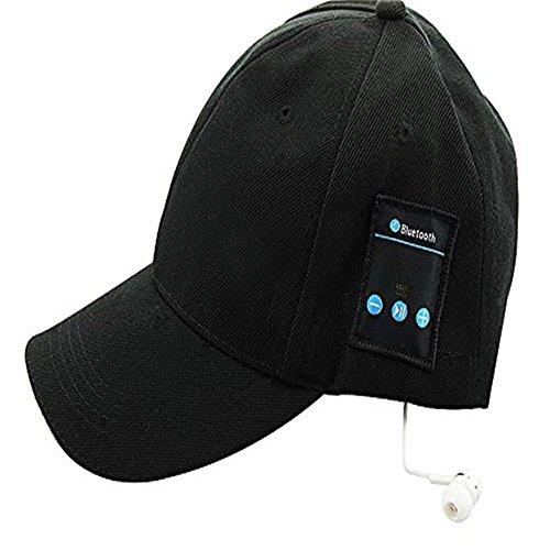 Unisex Bluetooth Baseball Cap Sun Hat Smart Wireless Bluetooth Headset Sports Cap Music Speaker Mic Summer Cap (Black)