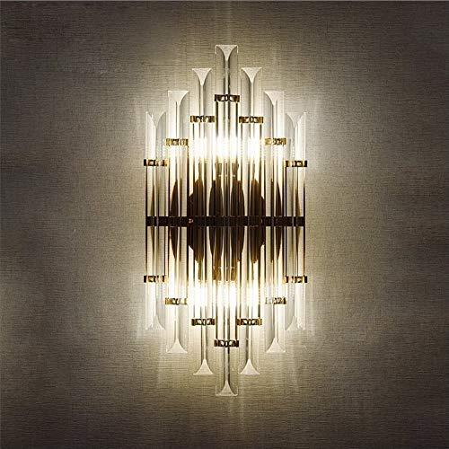 U-Enjoy Lustre Led E14 Nordic Led De Qualité Supérieure Lampe Led Fer Cristal Designer Applique Murale Applique Murale Applique Pour Bar Magasin Foyer Chambre Livraison Gratuite [Lumière Chaude]