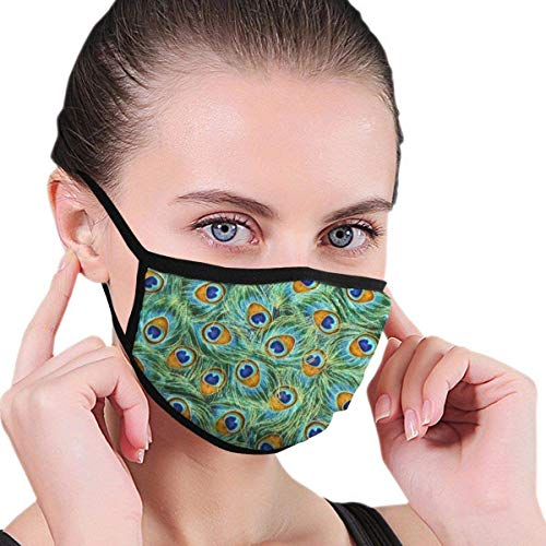 Na ion Face Masks Earloop Hypoallergenic Half Face Mouth Mask for Pollen Smog Medical Cleaning Women Men Kids - (Golden Doodle Dog)