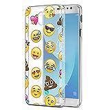 Eouine Coque Samsung Galaxy J3 2017, Etui en Silicone Transparente avec Motif Fantaisie Peinture Dessin [Anti Choc] Housse de...