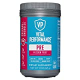 Low Sugar PreWorkout Powder - Vital Performance Passionfruit - NSF for Sport Certified, 140mg...