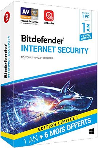 Bitdefender Internet Security|2018|1 appareil|18 Mois|PC|Téléchargement