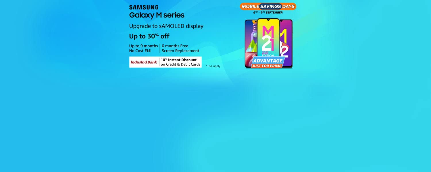 Amazon Offers Today-Coupons-Promo Codes - Get Up To 30% discount on Samsung Galaxy M Series SmartPhone