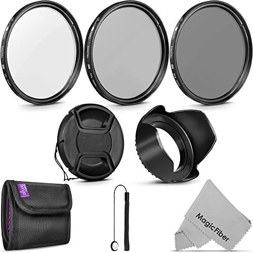 Pink Vivitar 52mm UV Filter and Snap-On Lens Cap