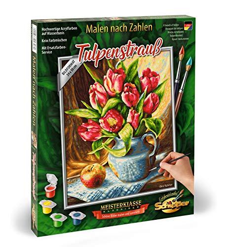 Schipper 609240796 - Juego de pintura por números (24 x 30 cm), diseño de ramo de tulipanes