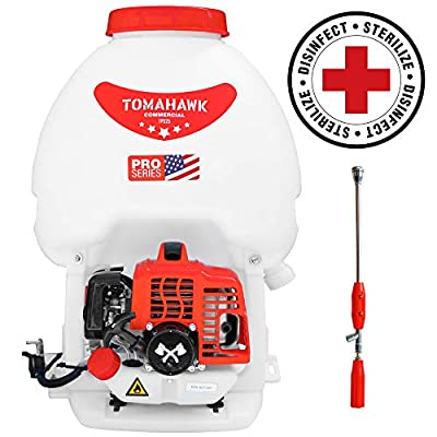 TOMAHAWK 5 Gallon Gas Power Backpack Sprayer 435 Pressure for Insecticide Fertilizer Bugs Weeds Mosquitoes and Ticks with Mist Attachment