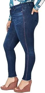 INC International Concepts Plus Size Side-Stripe Skinny Jeans