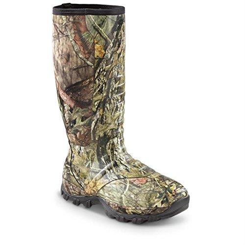 "Guide Gear Men's Wood Creek Camo Hunting Rubber Boots Waterproof Muck Boot 17"", 5mm Neoprene Top,..."