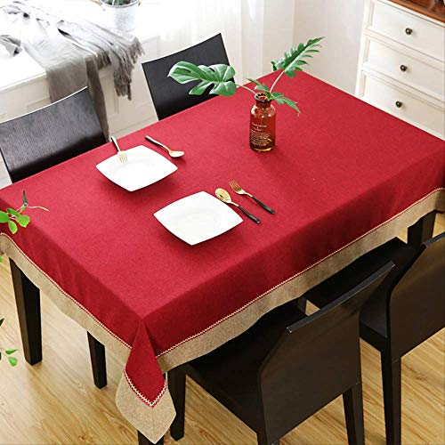 BJH Chinese rode tafelkleed klassieke rechthoekige mahonie salontafel kleine tafelkleed eettafel tafelkleed Chinese stijl 90 * 90Cm