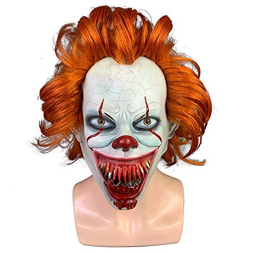 HOLACZES Halloween Horror Latex Clown Masker Film Pennywise Cosplay Masker Donkere Ridder Clown Masker Volwassen Cosplay Kostuum Masker Halloween Hoofddeksels
