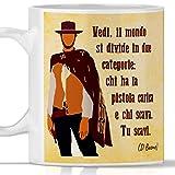 Mug de film Bon Brutto et Cactif. Gadget mug Homme cinéma western Clint Eastwood. Idée cadeau originale.