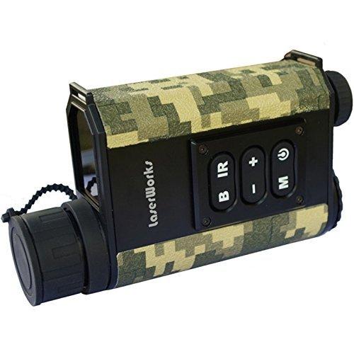 LaserWorks Night Vision Rangefinder Monocular Night Vison Laser Range Finder Scope for Hunting Telescope Infrared monocular (Camouflage)