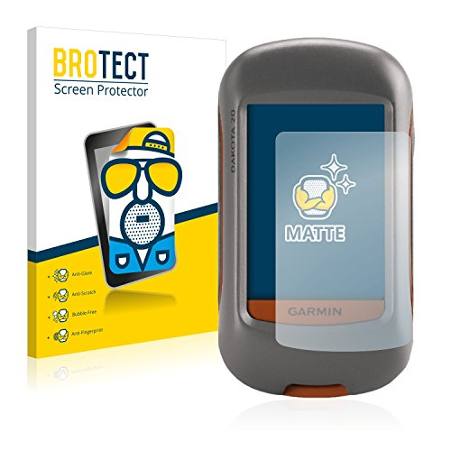 BROTECT Protector Pantalla Anti-Reflejos Compatible con Garmin Dakota 20 (2 Unidades) Pelicula Mate Anti-Huellas