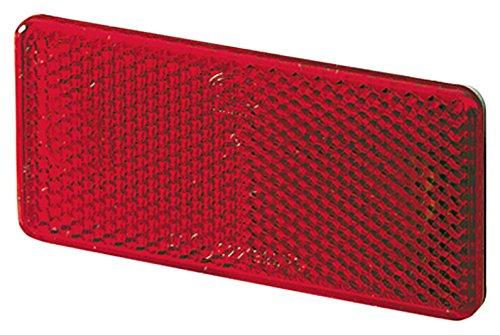 HELLA 8RA 003 326-931 reflector, auto-achterlicht, infunctielicht, zelfklevend lichtschijfkleur rood, set 2 stuks, transparante verpakking