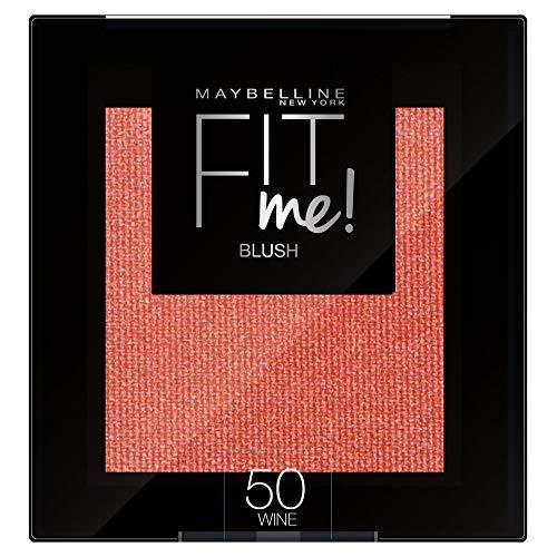 Maybelline New York Fit Me Blush Colorete en Polvo Mate, para Todo Tipo de Pieles, Tono 50 Wine