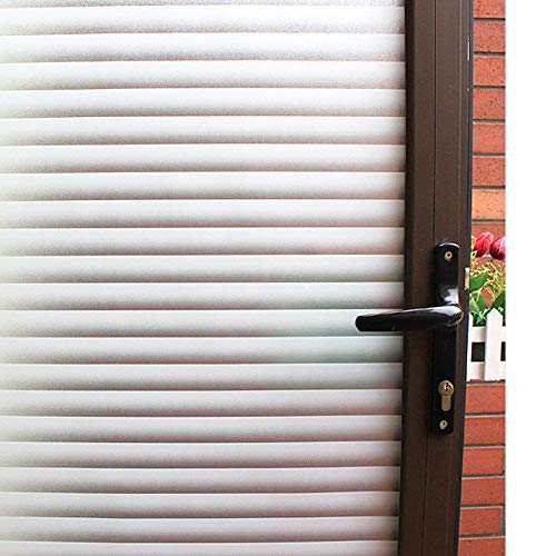 Mikomer Privacy Blinds Window FilmStained Glass Door FilmStatic Cling Window TintHeat Control Anti UV Removal Window Cling for Office and Home35 inches by 787 inches