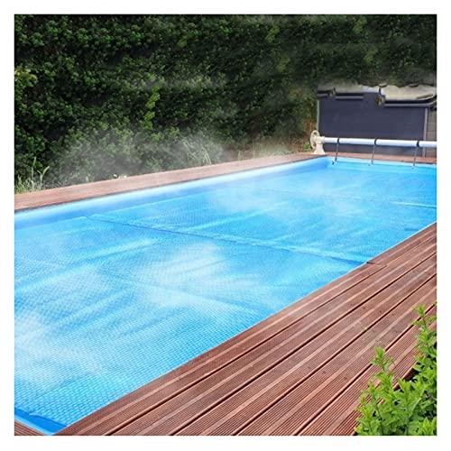 Cobertor Cubierta Fundas para Piscinas, Cubiertas solares para piscinas para piscinas enterradas, Rectángulo Tarea pesada Cubierta flotante térmica de burbujas con ojal, Manta de spa para bañera de hi