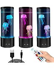 GOESWELL Mini kwallen sfeerlamp, kwallen lamp, nachtlamp magische lamp met 6 kleurveranderingen licht decompressiecadeau voor kinderen