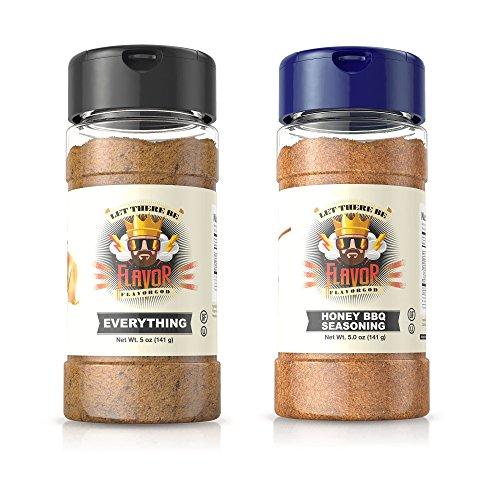 Flavor God Seasonings - BBQ Grilling Duo - Everything & Honey BBQ (Gluten Free, GMO Free, MSG Free, Low Sodium, Paleo Friendly)
