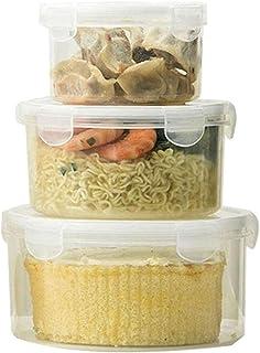 Ensemble de 3 conteneurs alimentaires transparents, organisateurs de stockage de cuisine pour réfrigérateurs et placards, ...