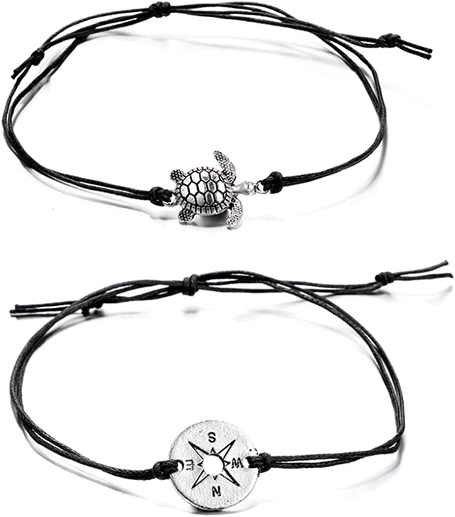 Yalice Layered Turtle Anklets Compass Beach Rope Luxury goods Bracelet Ankle Super intense SALE