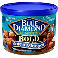 12-Pack Blue Diamond Almonds Bold Salt & Vinegar Snack Nuts (6 oz. Resealable Cans)