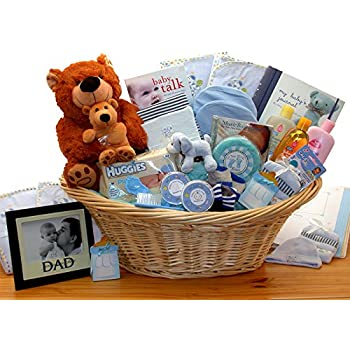 Bverionant Nursery Storage Bin Basket Newborn Shower Gift Basket for Mom Newborn Kids Nappies Navy Blue