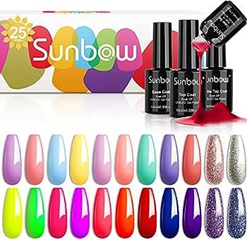 25-Pack Sunbow Gel Nail Polish Set (Secret Garden)