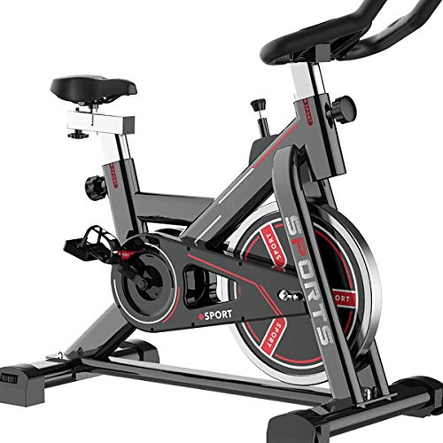 Indoor Bike Fitness Bike, Classic Black and Red Color Can be Placed in The Living Room Fashion Items, Burn Body Fat, Show Off Charming Charm.