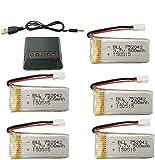 ZYGY 5x3.7V 500mAh 25C batería y 5en1 Cargador para JJRC H31 H37 H6D Hubsan X4 FPV H107C/D/L/P H108 JXD392 JXD388 JXD385 UDI U816A SYMA X5C X5SW HS170 HS170C HS170G F180W TR-C385 TR-P51 TR-F22