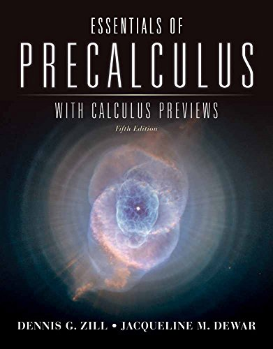 Essentials of Precalculus with Calculus Previews (Jones &...